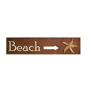 Beach with Arrow - Wall Sign