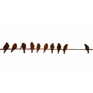 Multiple Birds on a Wire Wall Hanging indoor/outdoor
