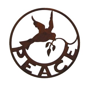 Peace Dove Wall Sign
