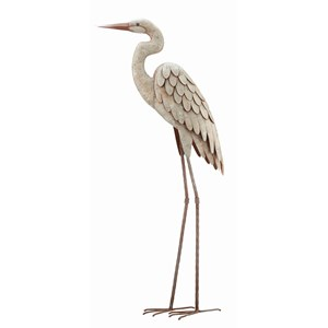 Egret metal garden decor