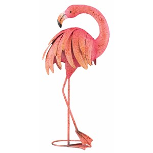 Flamingo metal garden decor