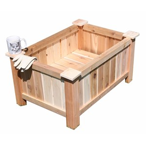 "30.5"" L Rectangular Cedar Planter"