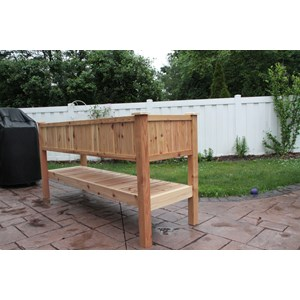 "75"" L Elevated Cedar Trough Planter"
