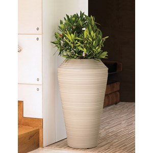 Daniel Tall - lightweight resin planter - Weathered Stone