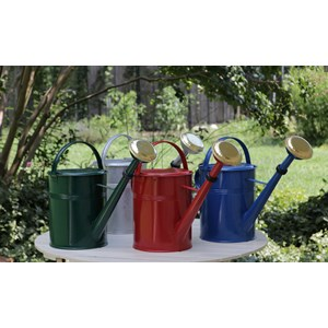 Large Galvanized Watering Cans - blue, green, red and plain