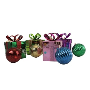 Shatterproof Gift Box with Ball Ornaments