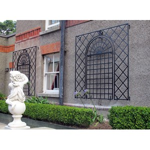 Steel Trellises for Walls - Surround + Arched Wall Trellis