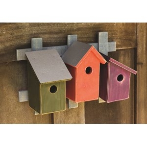 Trellis Trio Birdhouses - Traditional
