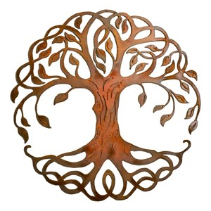 Root Tree Steel Wall Art