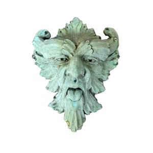 Greenman Cast Stone in Copper Rust Finish