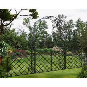Bagatelle Garden Arch with Low Gate & Fence