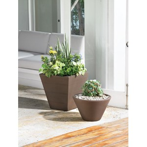 Gramercy Round & Square Planters - Vintage Copper