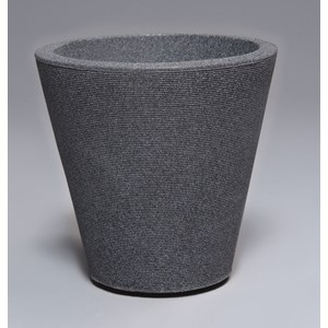 Madison lightweight resin planter - Granite