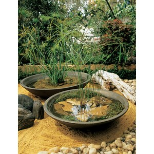 Montana Bowl - lightweight resin planter - Old Bronze