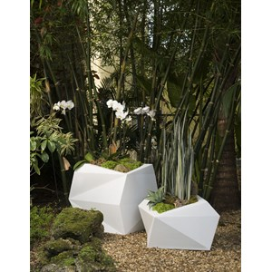 Origami - unique lightweight planter - Alpine White