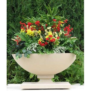 Small Frank Lloyd Wright Allen House Planter in Creme