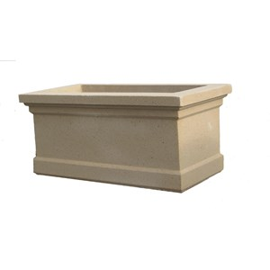 Cambridge Trough cast stone planter - Creme