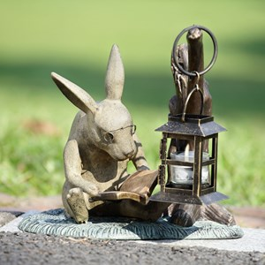 Reading Rabbit Candle Lantern