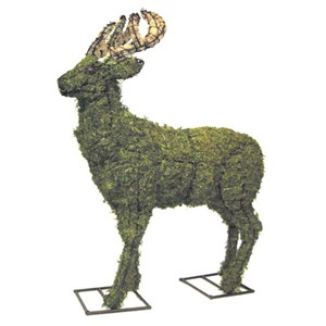Mossed Deer Topiary Frame