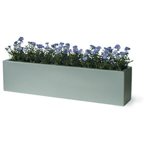 Geo Fiberglass Window Box - aluminum finish