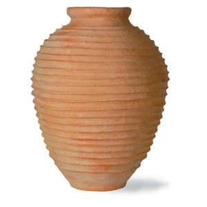 Fiberglass Beehive vase in weathered terracotta