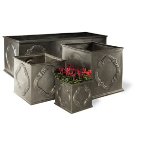 Hampton Family of fiberglass planters