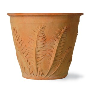 Fern Pot - fiberglass planter - Weathered Terracotta