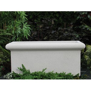 Chelsea Trough - cast stone rectangular planter - Limestone