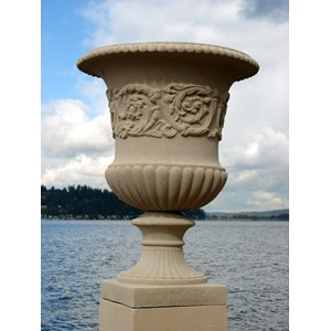 French Vase - cast stone urn - Creme