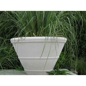 Shaston - cast stone planter - Limestone