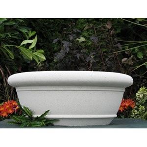 Sussex Bowl - cast stone planter - Limestone