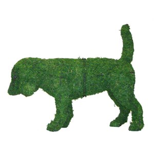 Mossed Beagle Topiary Frame