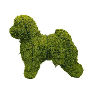 Mossed Bichon Frise Topiary Frame
