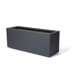 High Rectangular Metal Planter