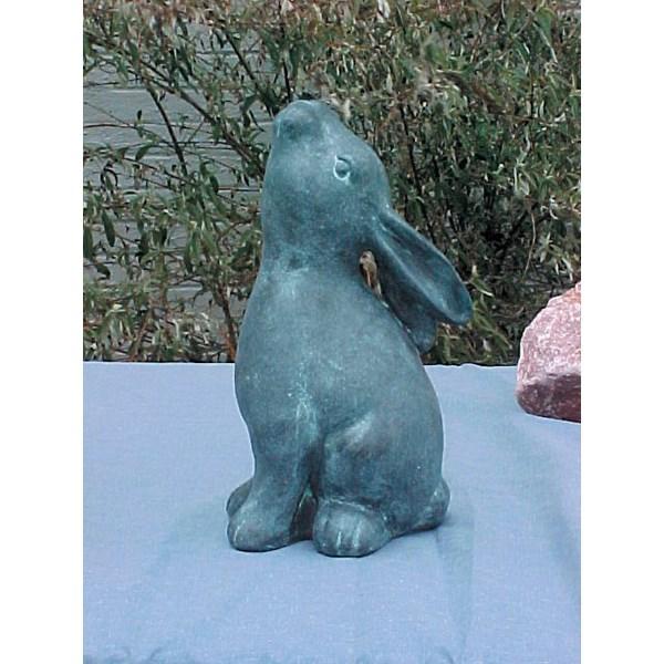 Delicieux Star Gazing Bunny Statue   Verdigris