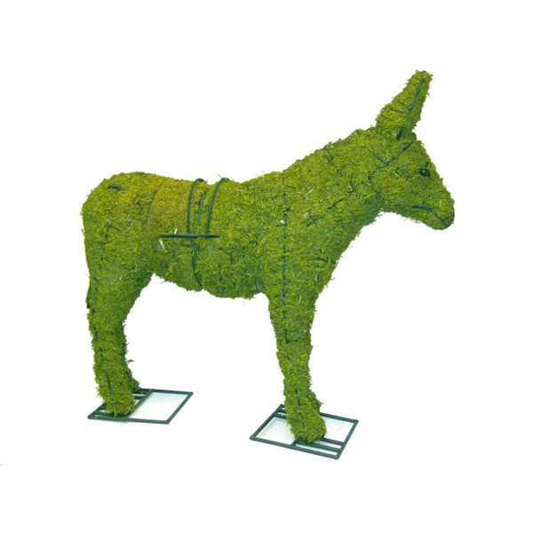 Mossed Donkey Topiary Frame