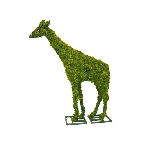 Mossed Giraffe Topiary Frame