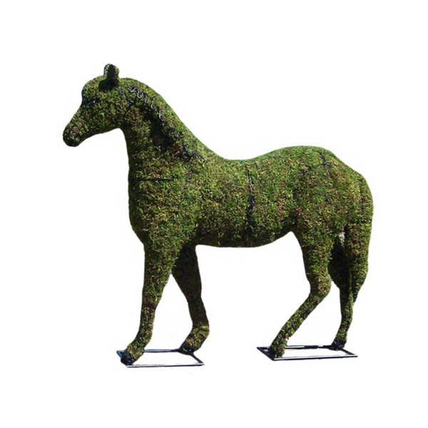 Mossed Horse Topiary Frame
