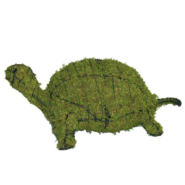 Mossed Turtle Topiary Frame