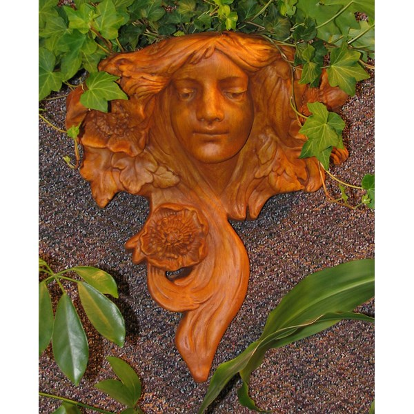 Art Nouveau Planter in Terracotta