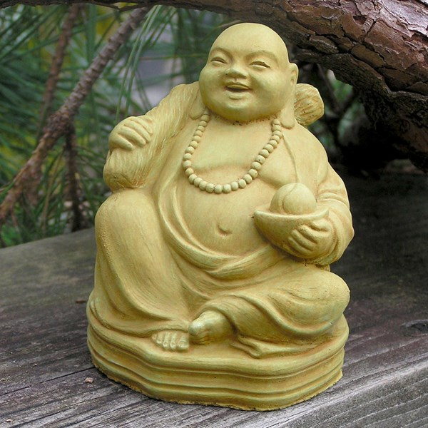 Buddha of Good Fortune statue - Weathered Bronze