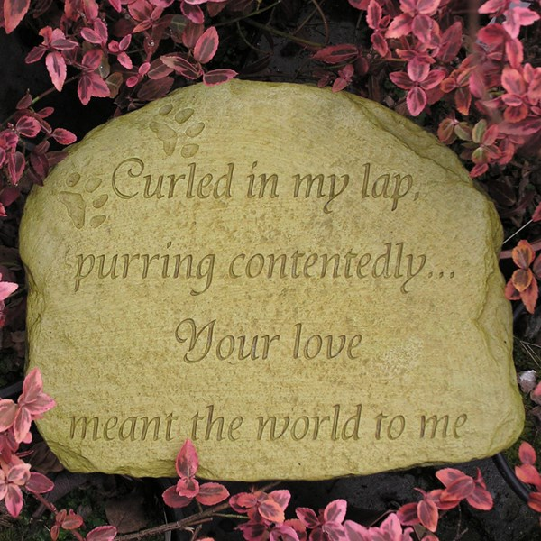 Cat Memorial stone - Weathered Bronze