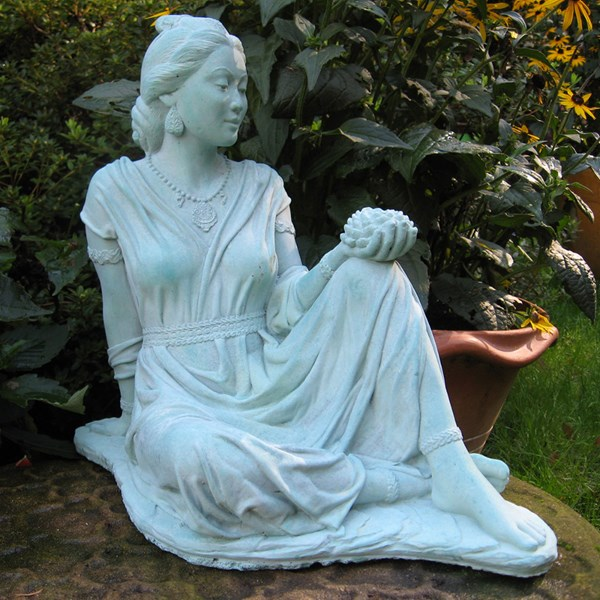 Quan Yin statue in Copper Patina