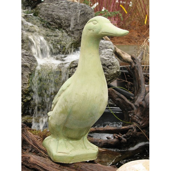 Standing Duck statue in Weathered Bronze