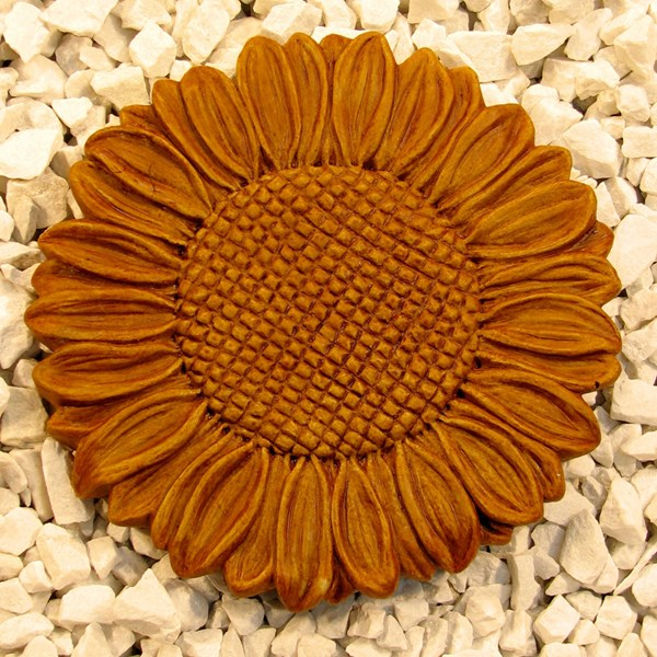 Sunflower Step Stone in Terracotta