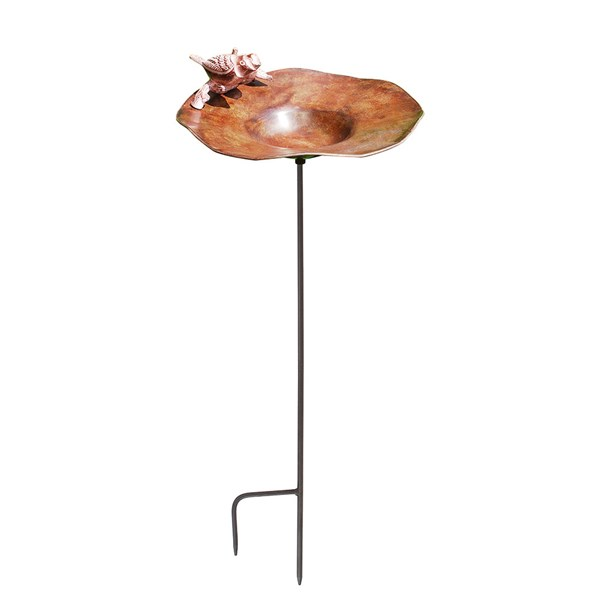 Brass Birdbath with sectional stake
