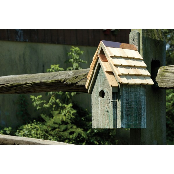 Bluebird Manor Birdhouse - Grey