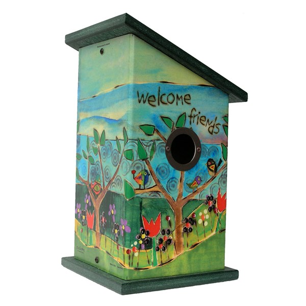 Gather Friends Birdhouse - Front View