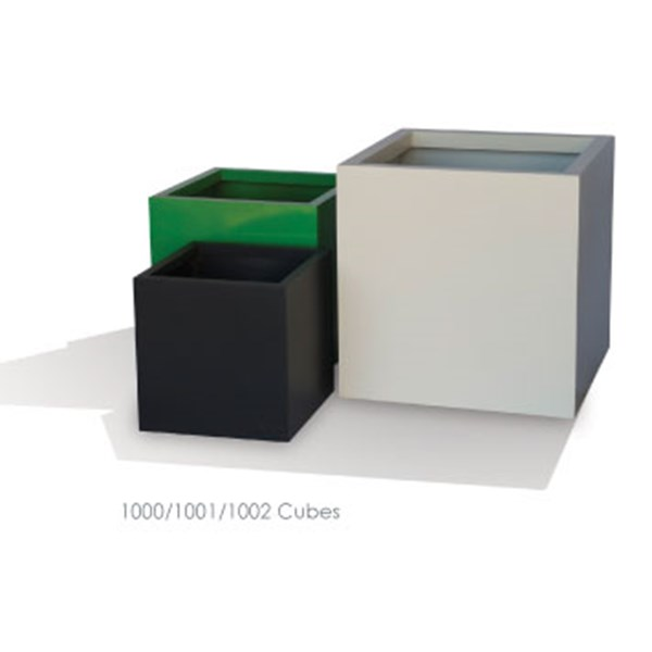 Cube - metal square planters