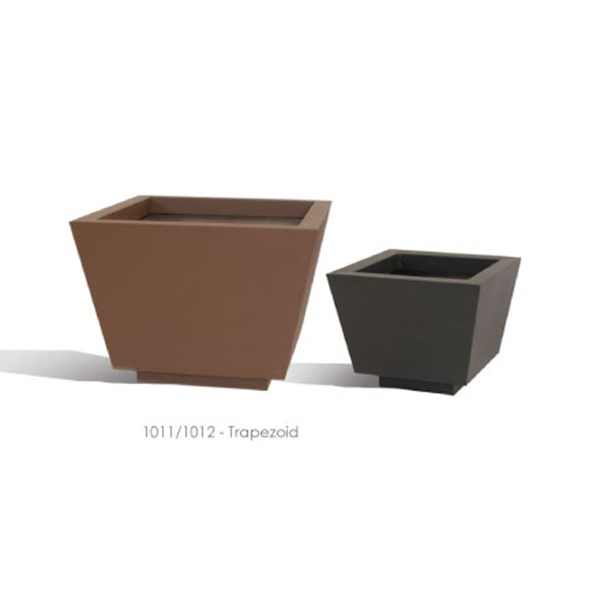 Trapezoid - tapered square metal planters